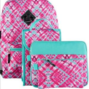 Handbags - Pink and Blue Backpack
